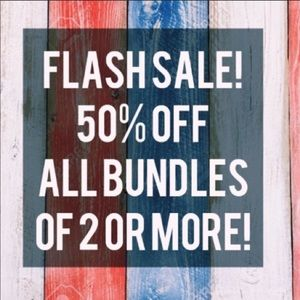 TODAY ONLY FLASH SALE! All bundles 2+ are 50% off!